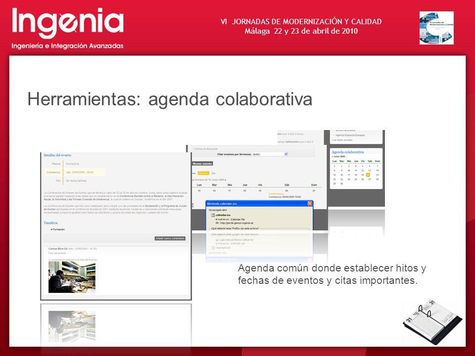 Herramientas: agenda colaborativa