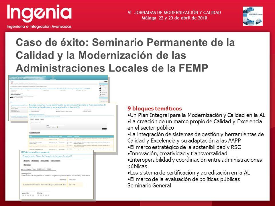 Caso de éxito: Seminario Permanente de la Calidad y la Modernización de las Administraciones Locales de la FEMP