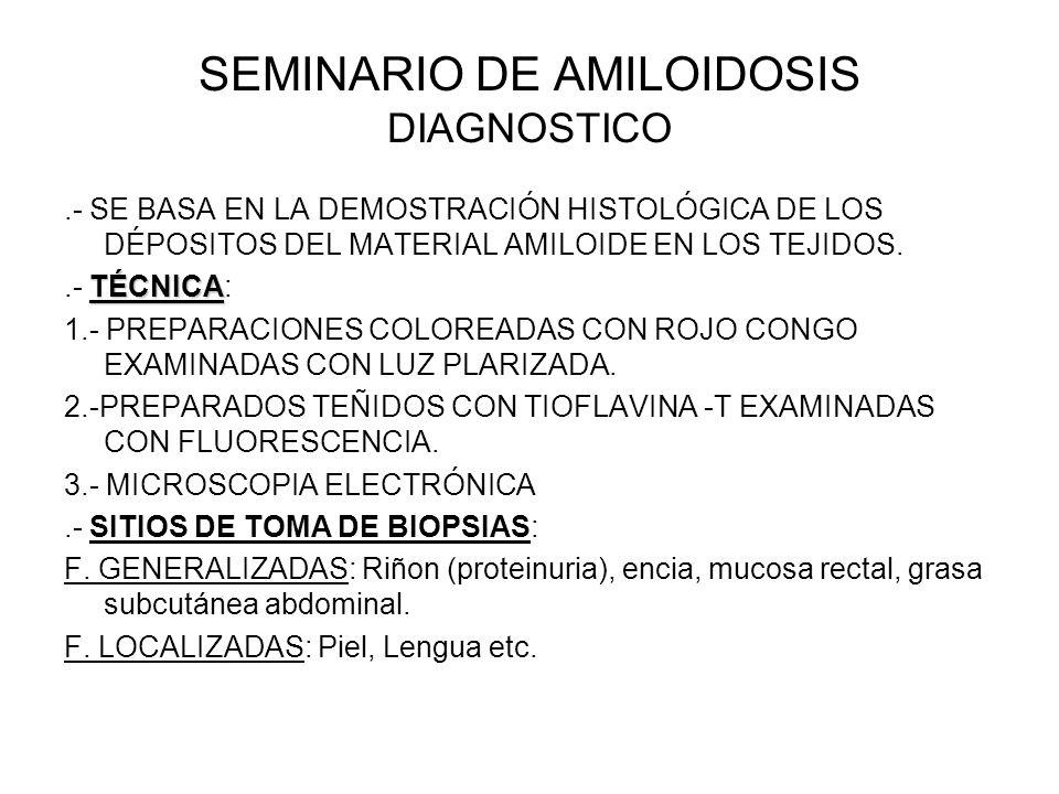 SEMINARIO DE AMILOIDOSIS DIAGNOSTICO