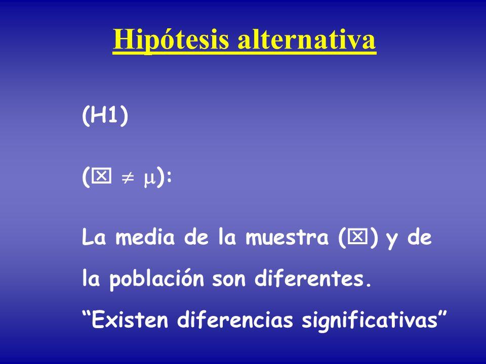 Hipótesis alternativa