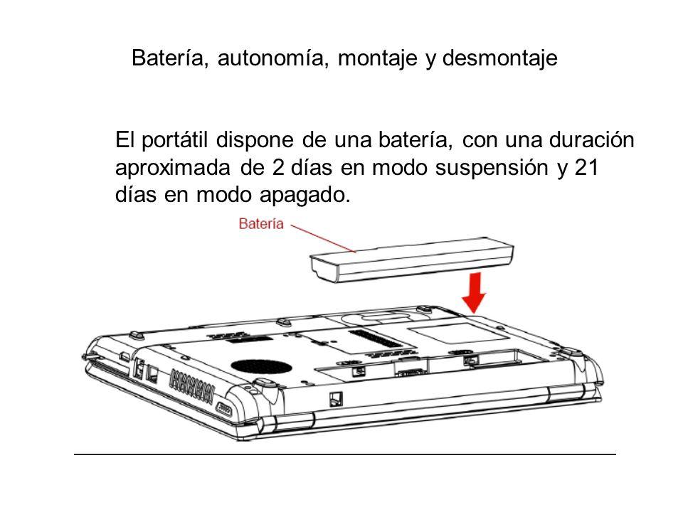 Batería, autonomía, montaje y desmontaje