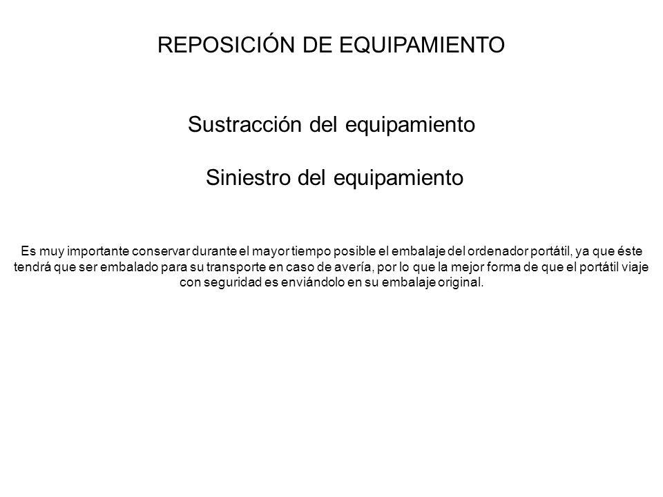 REPOSICIÓN DE EQUIPAMIENTO