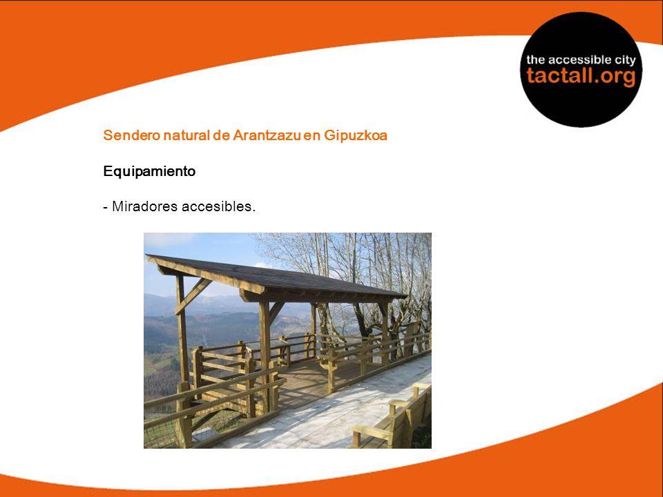 Sendero natural de Arantzazu en Gipuzkoa