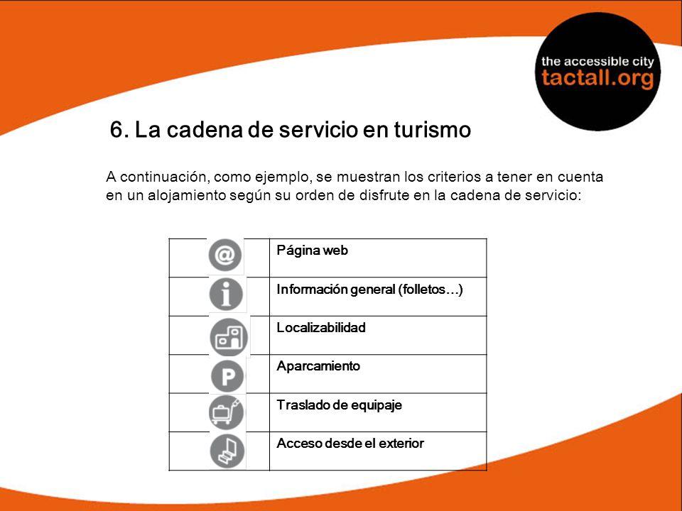 6. La cadena de servicio en turismo