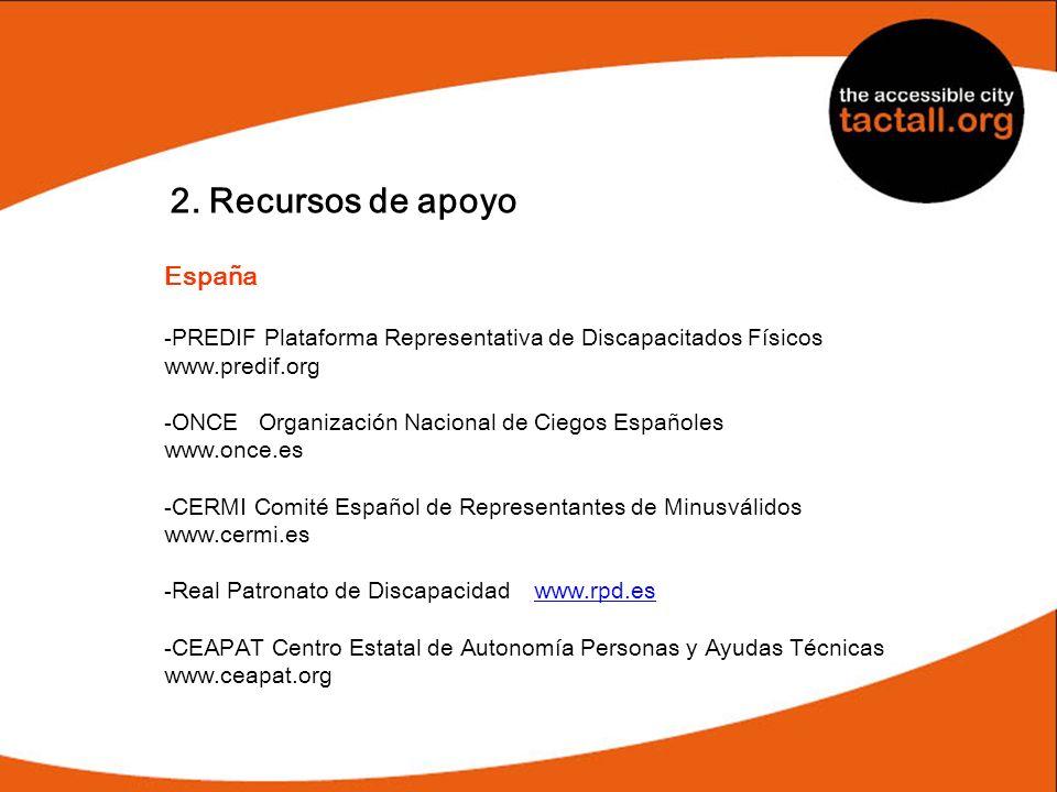 2. Recursos de apoyo España