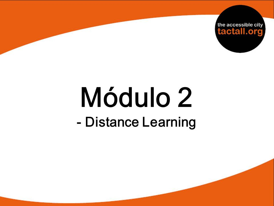 Módulo 2 - Distance Learning