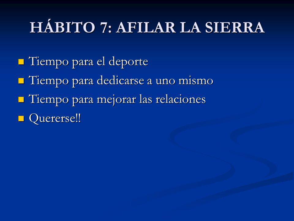 HÁBITO 7: AFILAR LA SIERRA