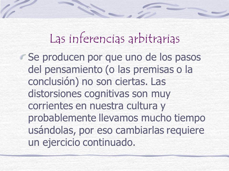 Las inferencias arbitrarias