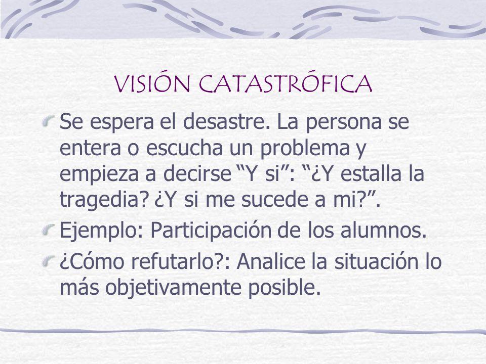 VISIÓN CATASTRÓFICA