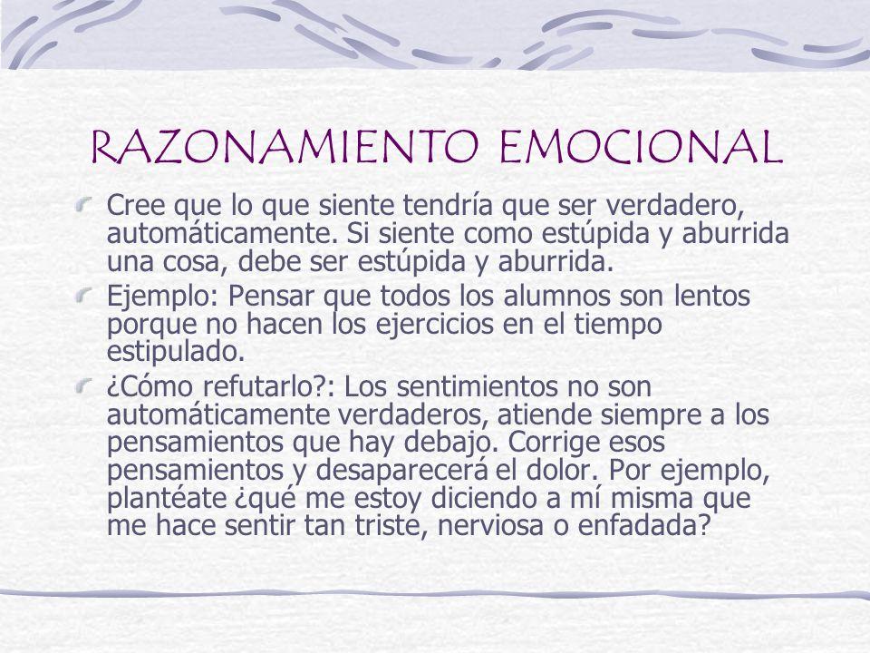 RAZONAMIENTO EMOCIONAL