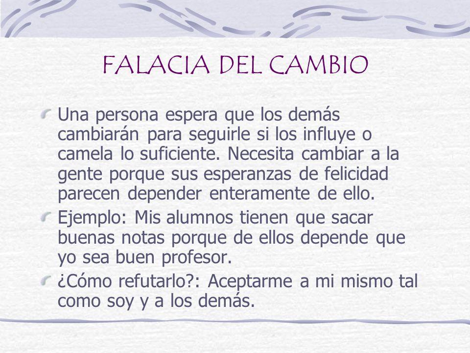 FALACIA DEL CAMBIO