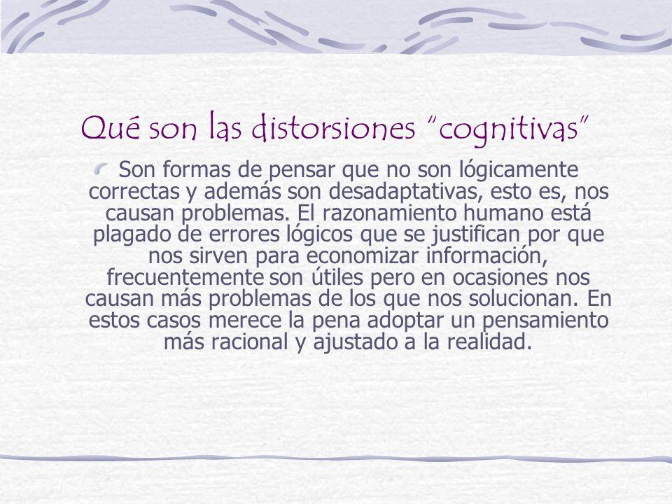 Qué son las distorsiones cognitivas