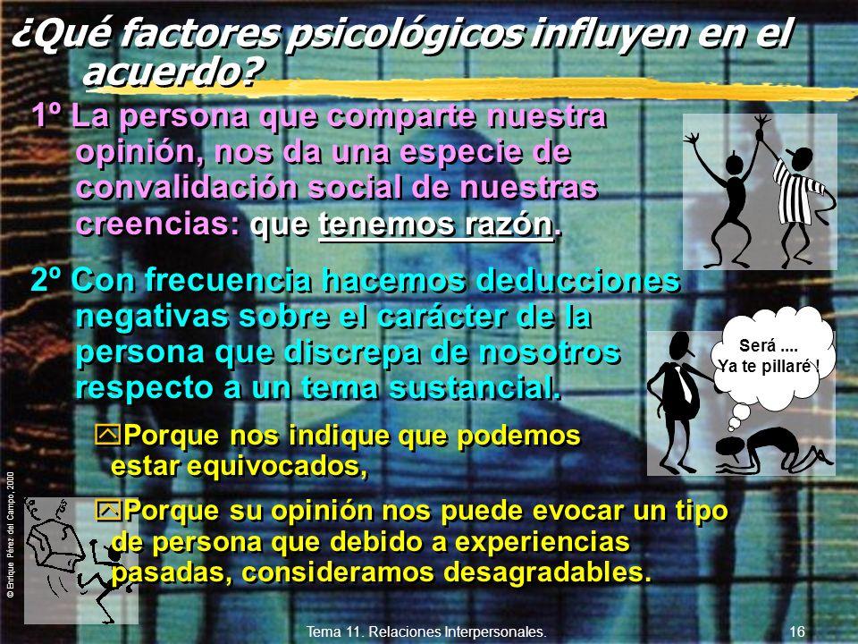 ¿Qué factores psicológicos influyen en el acuerdo