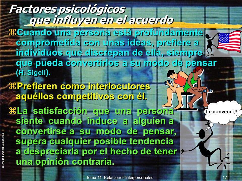 Factores psicológicos que influyen en el acuerdo