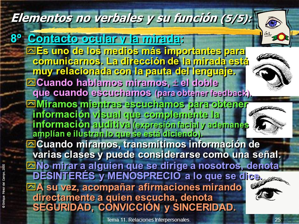 Elementos no verbales y su función (5/5):