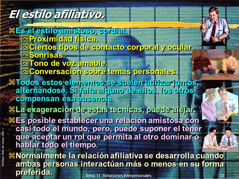 Tema 11. Relaciones Interpersonales.