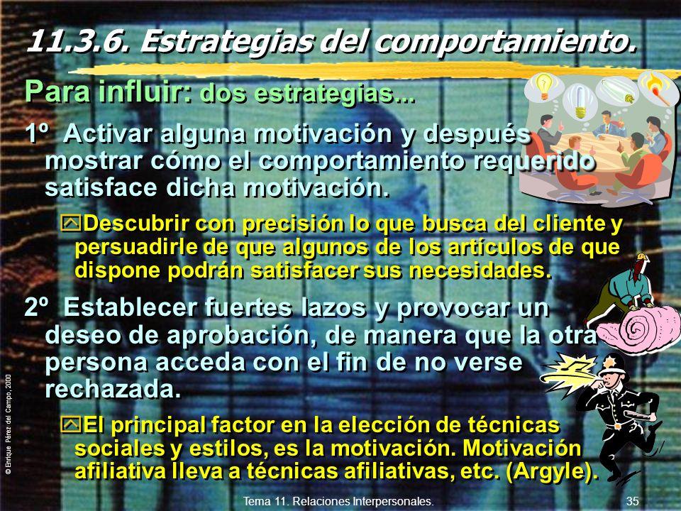 11.3.6. Estrategias del comportamiento.