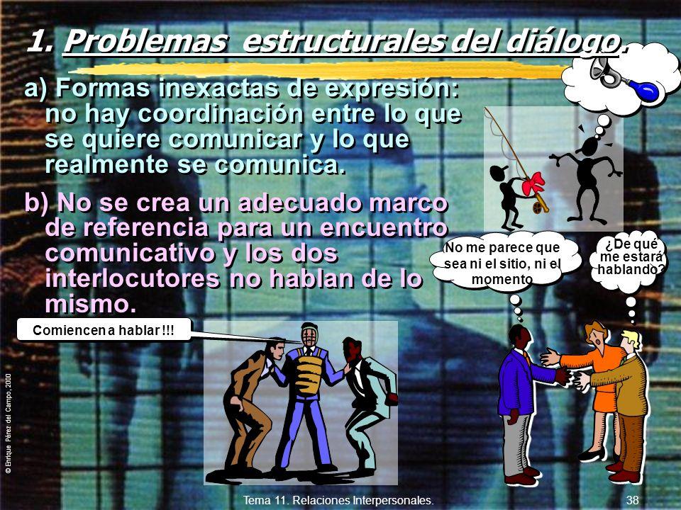 1. Problemas estructurales del diálogo.