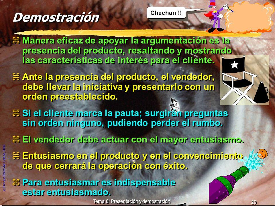 Tema 8: Presentación y demostración