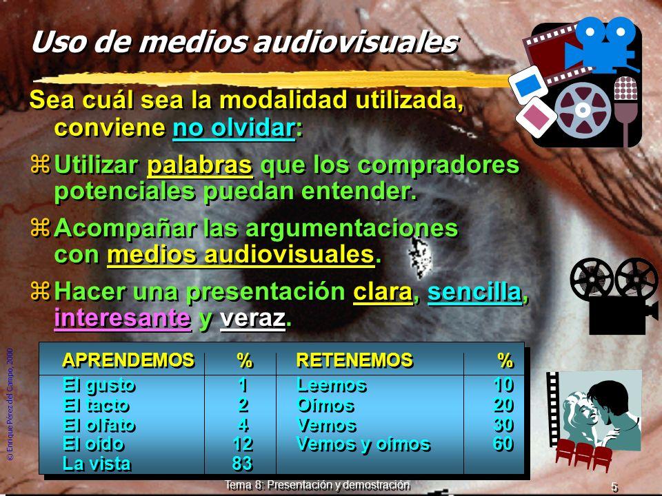 Uso de medios audiovisuales