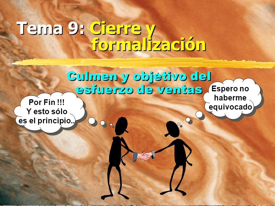 Tema 9: Cierre y formalización