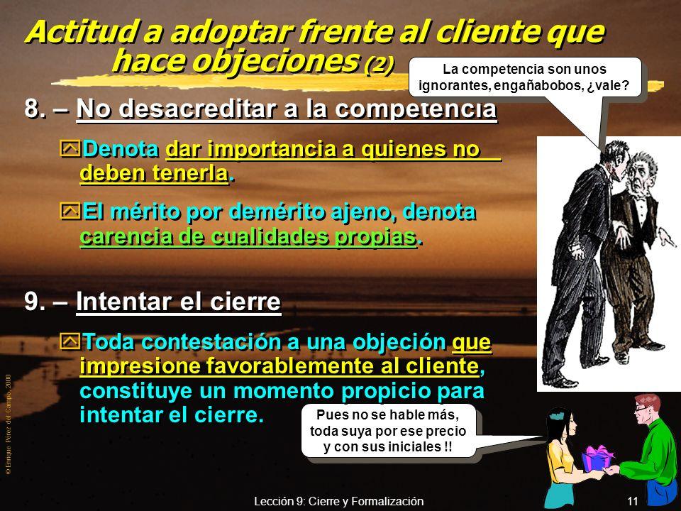 Actitud a adoptar frente al cliente que hace objeciones (2)