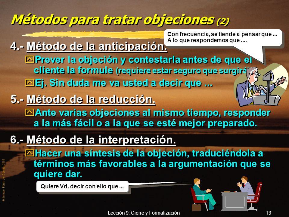 Métodos para tratar objeciones (2)