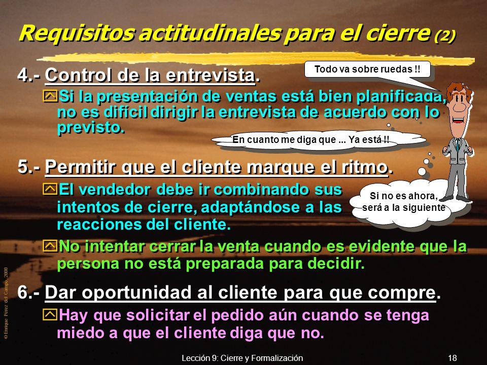 Requisitos actitudinales para el cierre (2)