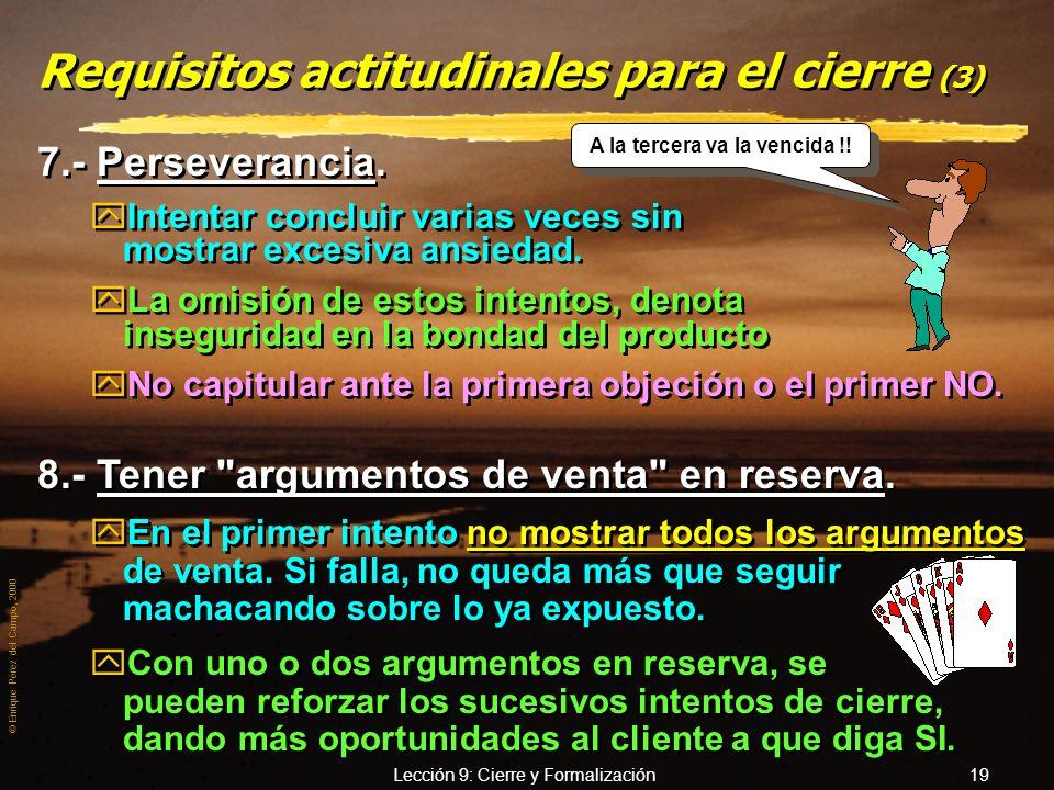 Requisitos actitudinales para el cierre (3)