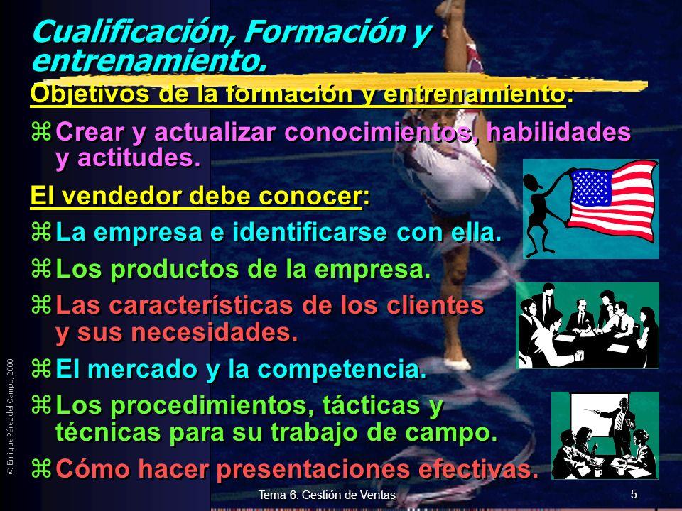 Cualificación, Formación y entrenamiento.