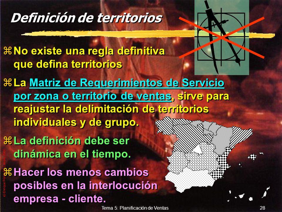 Definición de territorios