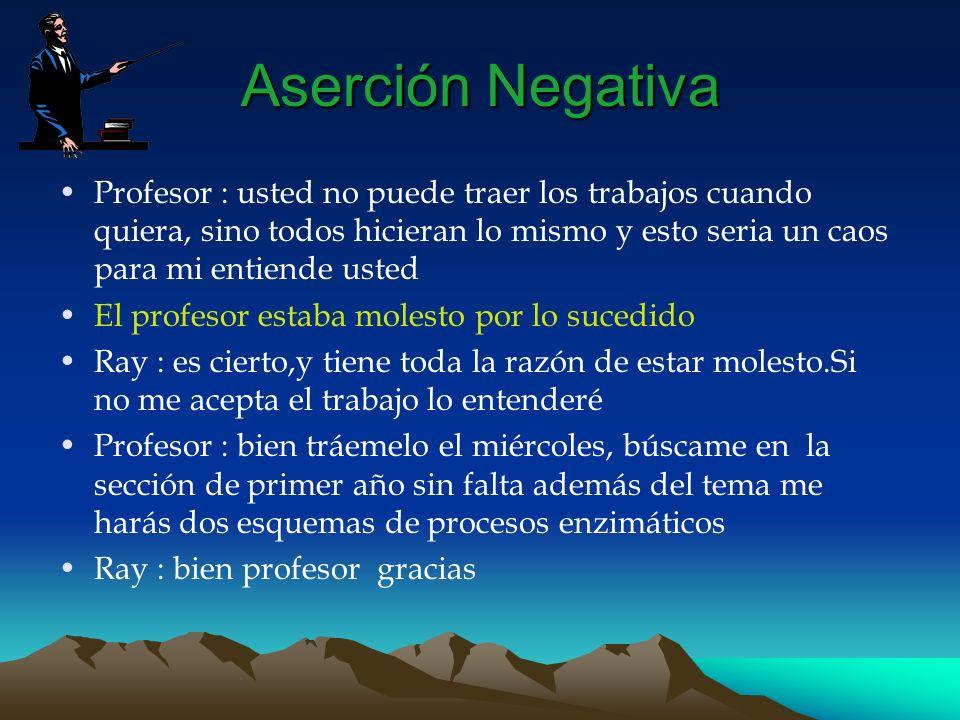 Aserción Negativa