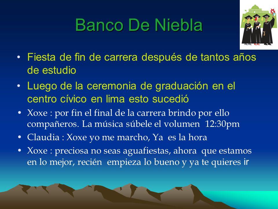Banco De Niebla Fiesta de fin de carrera después de tantos años de estudio.