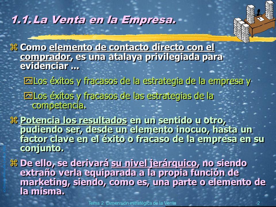 Tema 2: Dimensión estratégica de la Venta