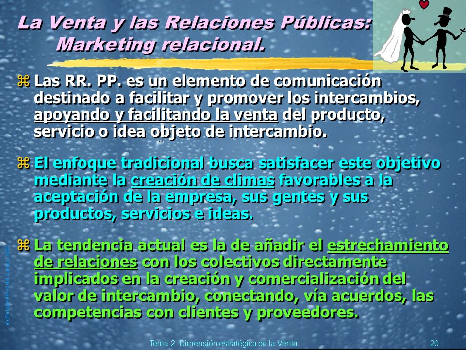 La Venta y las Relaciones Públicas: Marketing relacional.