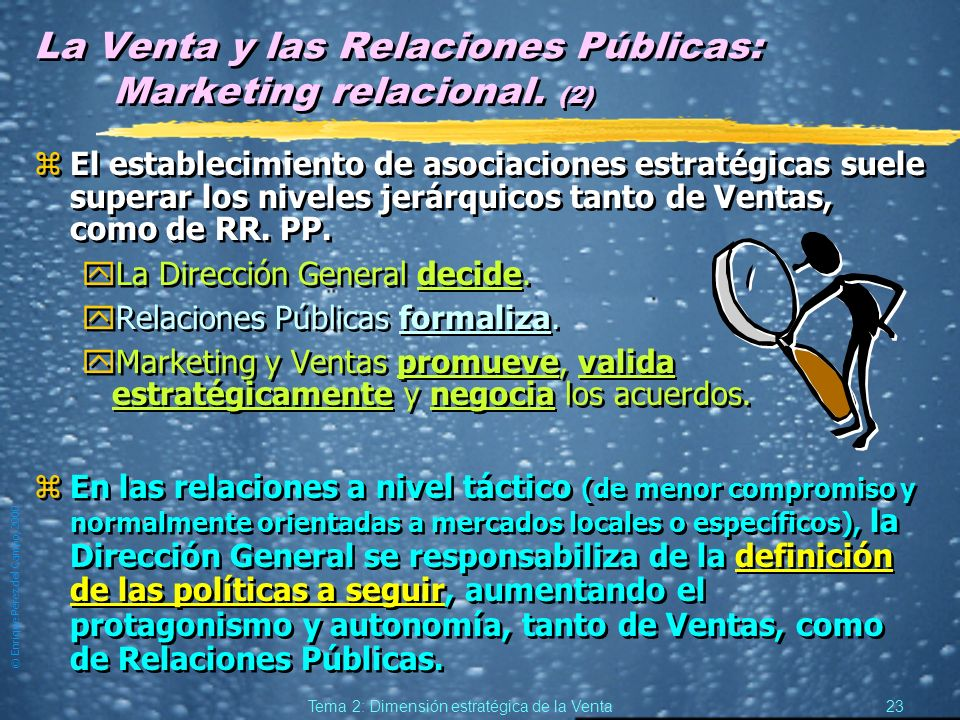 La Venta y las Relaciones Públicas: Marketing relacional. (2)