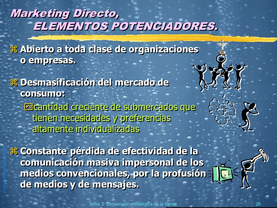 Marketing Directo, ELEMENTOS POTENCIADORES.