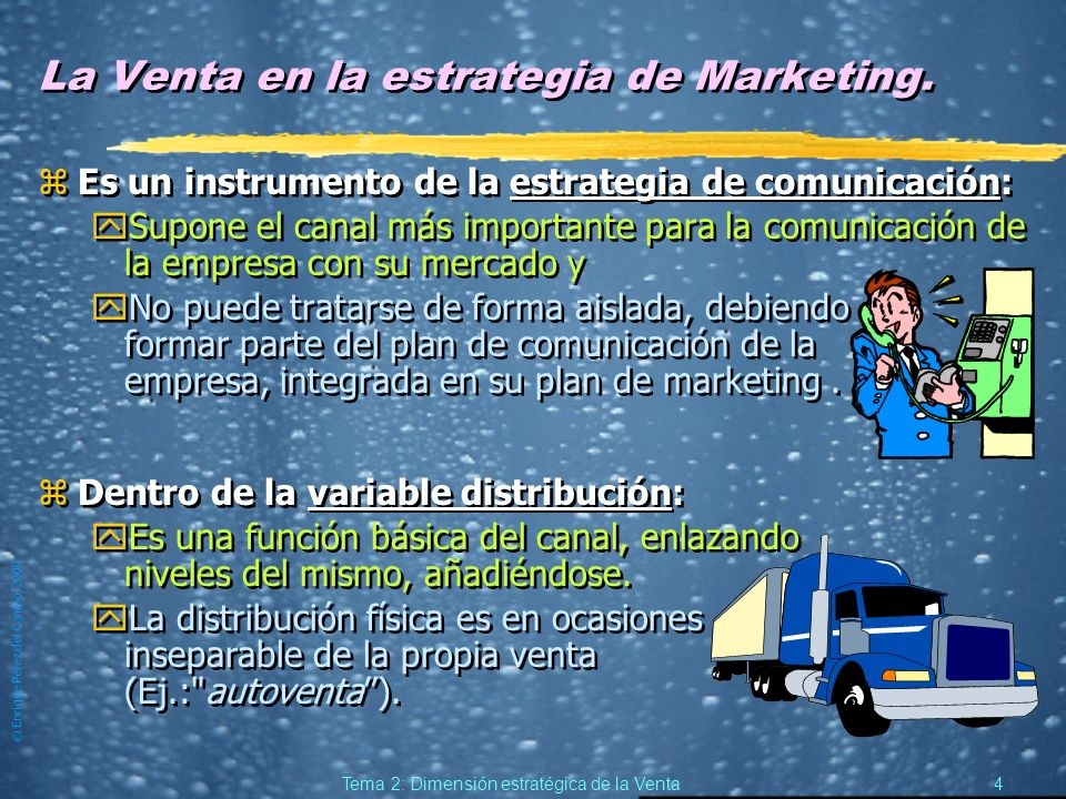 La Venta en la estrategia de Marketing.