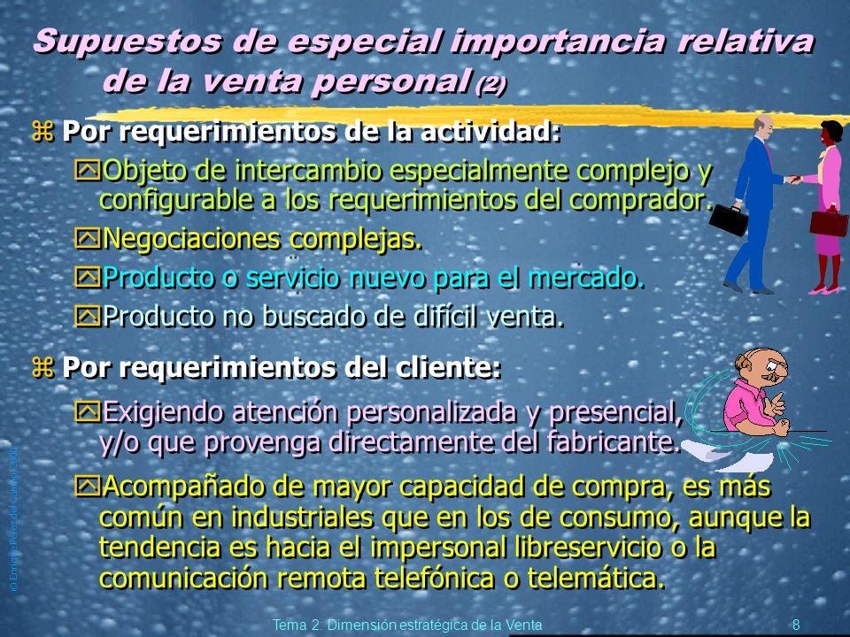 Supuestos de especial importancia relativa de la venta personal (2)