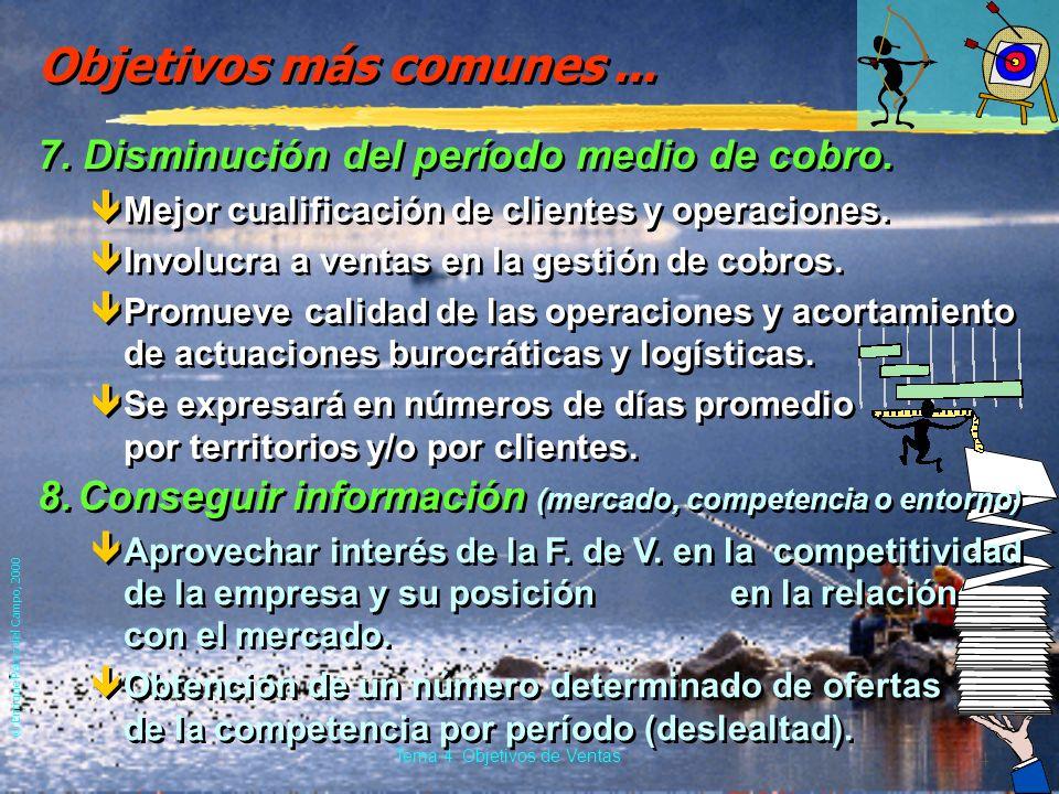 Tema 4: Objetivos de Ventas