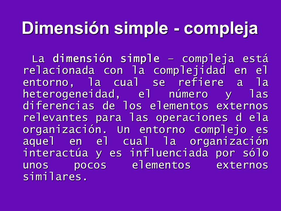 Dimensión simple - compleja