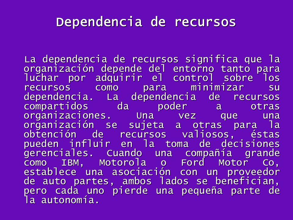 Dependencia de recursos
