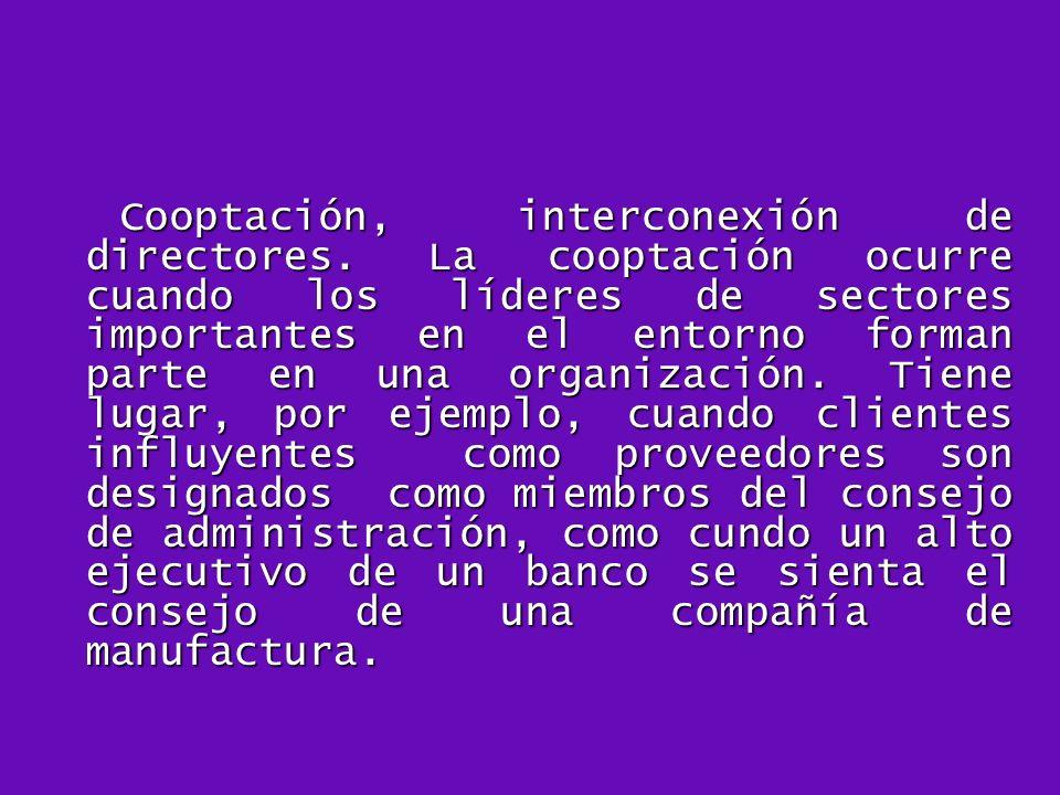 Cooptación, interconexión de directores
