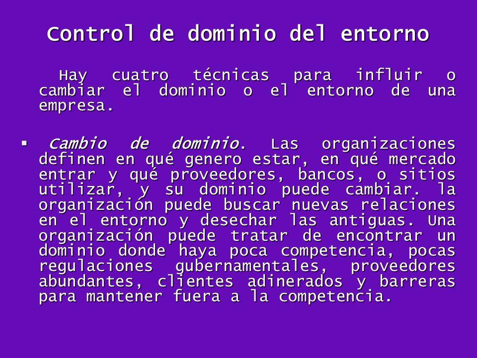 Control de dominio del entorno