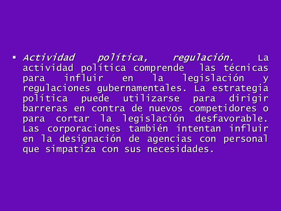 Actividad política, regulación