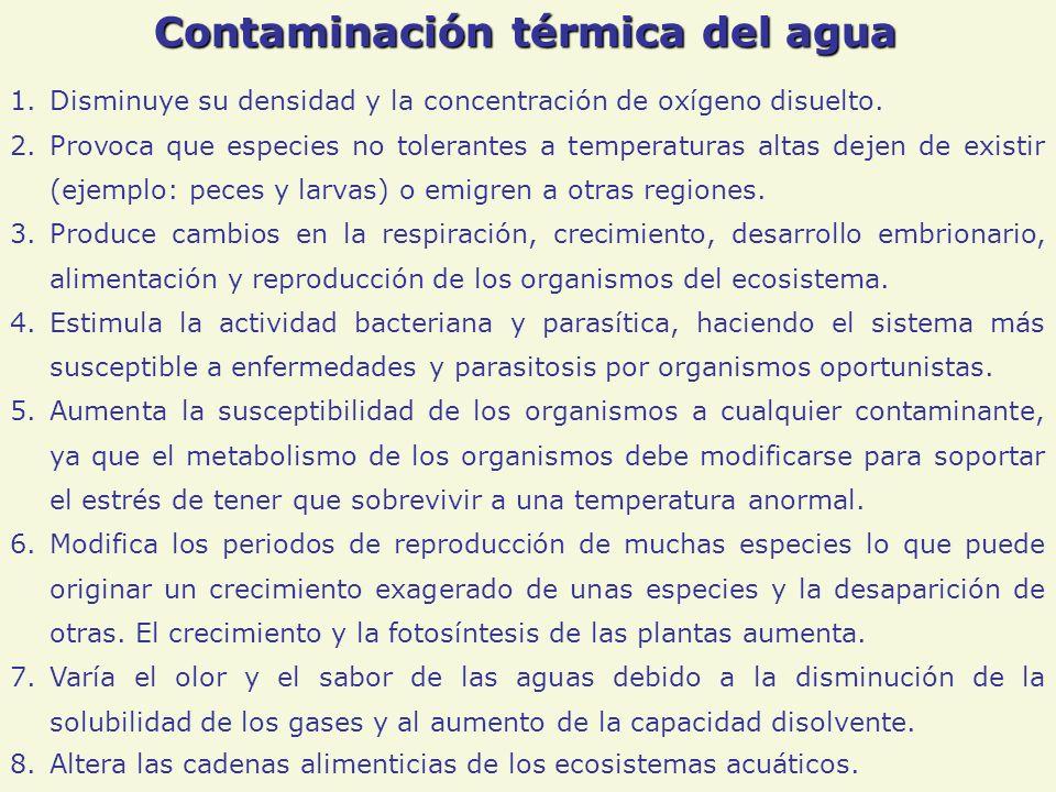 Contaminación térmica del agua