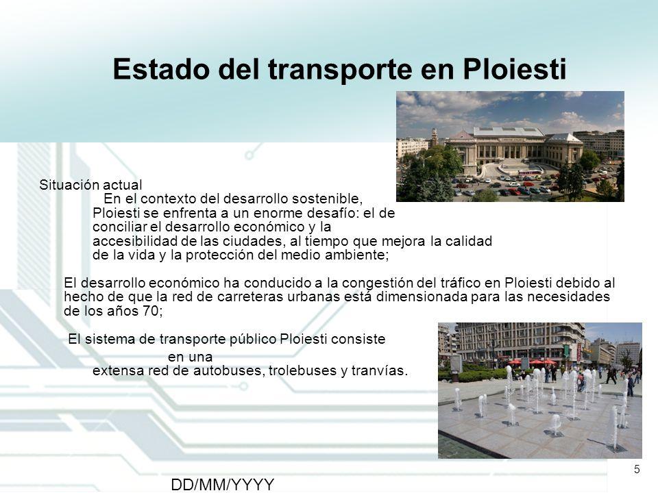 Estado del transporte en Ploiesti
