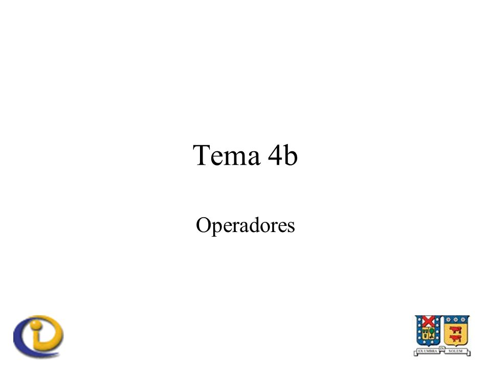 Tema 4b Operadores