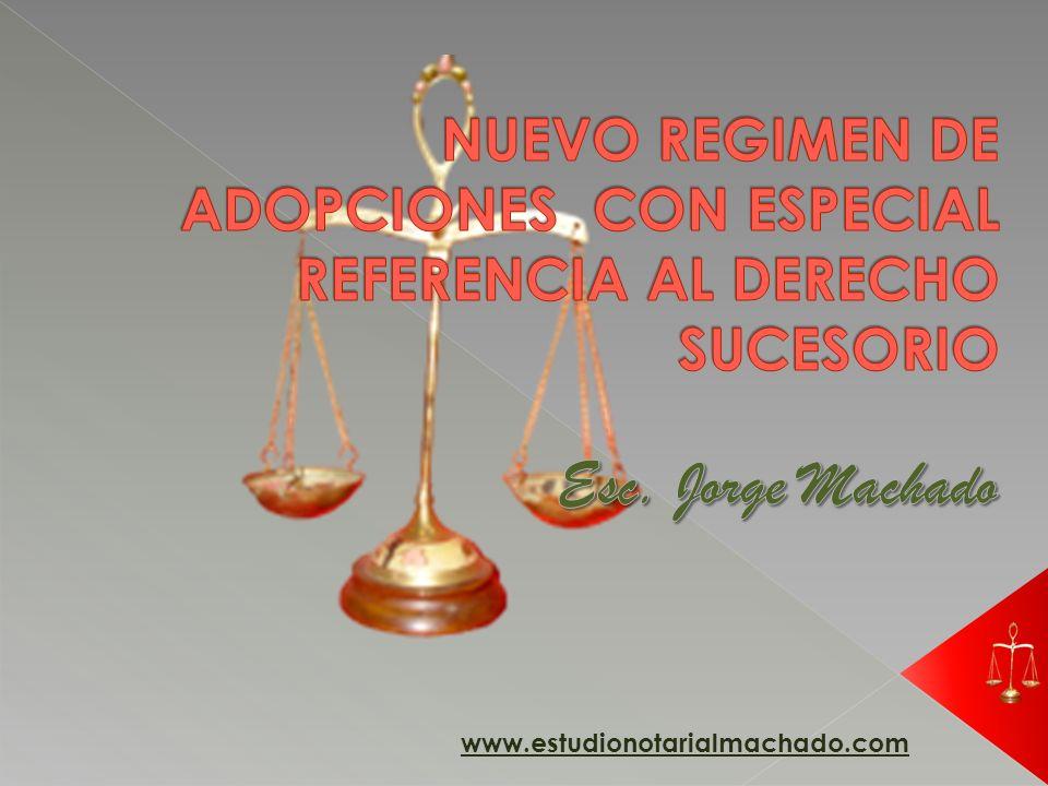 NUEVO REGIMEN DE ADOPCIONES CON ESPECIAL REFERENCIA AL DERECHO SUCESORIO
