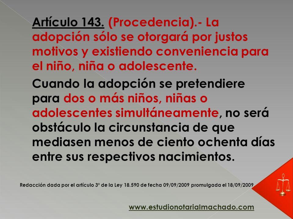 Artículo 143. (Procedencia)